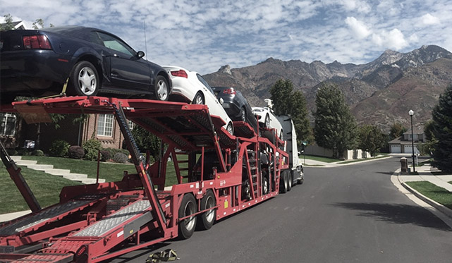 Transporting a vehicle